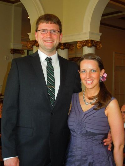 Molly and I at the wedding