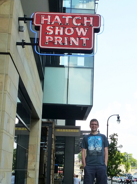 Dustin at Hatch Show Print Shop