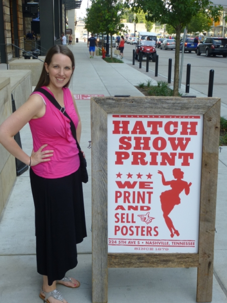 Molly at Hatch Show Print Shop